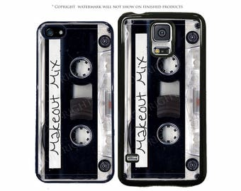 Black and Clear Cassette Personalized Phone Case For Apple iPhone 7, 7 Plus, 6, 6 Plus, Galaxy S8, S8 Plus, S7 S7 Edge, LG, Pixel XL, Note