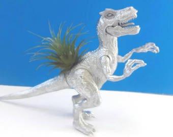 Repurposed Dinosaur Air Planter, Dinoplanter, Air Plant, Low Care Planter, Dinosaur Decor, Upcycled, Recycled, Made By Mod.