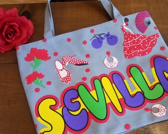 Seville Tote Bag with Zipper