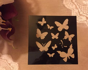 For crafting fine stencil painting Model Butterfly