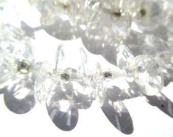 10 SEQUINS DROPS CONICAL CRYSTAL 8 MM ROUND