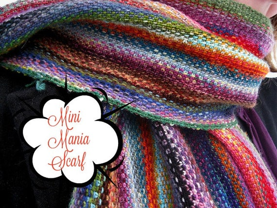 Hand dyed yarn,Mini Mania Scarf Kit,Indie Dyed Mini Skeins to make a scarf,gift for yarn lovers,Mini Skeins,Scarf kit - pattern included
