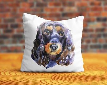 Cocker Spaniel PillowCase Dog Throw Pillow Name Pet Portrait Custom Toss Pillow Silk PillowCase Satin Personalized Pillow Cover Mom Gift