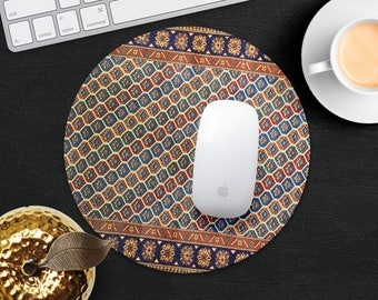 Mouse Pad Rug Mouse Mat Blue Red MousePad Persian Carpet MousePad Office Gift Mouse Pad Round MouseMat Persian Mouse Pad Desk Accessories