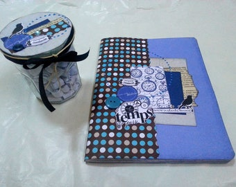 : Jar Journal diary guided wrecked all blue (book wrecked and jar with with questions)