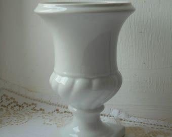 stunning vintage French Limoges porcelain vase / ornament