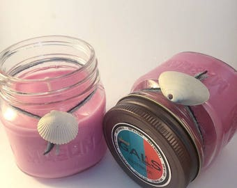 Watermelon 8oz Mason Jar Soy Wax Organic Candle