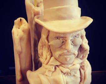 Highly Detailed Dracula and Candles Sculpture