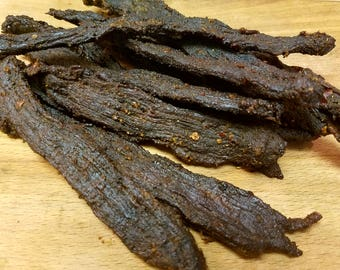 Beef Jerky(1 lb)- tender gourmet smoked jerky, great crafted snack, protein boost, all natural. Great gift idea!