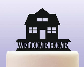 Acrylic Welcome Home Cake Topper