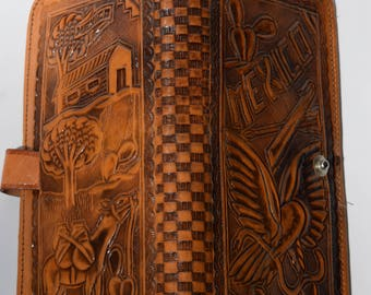 Hand Tooled Leather Wallet Mexico