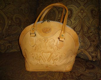 Tooled Leather Sergios Collection Shoulder Bag