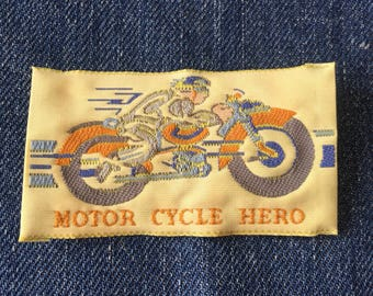 Vintage Deadstock 1970's 80's 90's Sew On Motor Cycle Clothing Patch