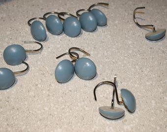 Vintage baby blue shower hooks