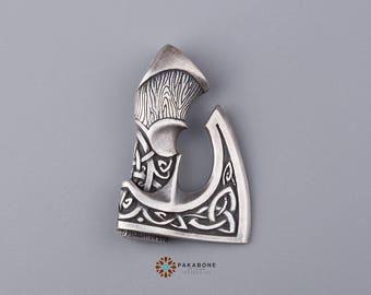 Big Axe Pendant Viking Axe Celtic Axe Perun's Axe Slavic Axe Viking Jewelry Silvered Bronze 001-061