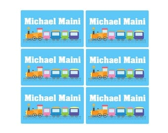 95ct Stick On Clothing Name Labels, Kids Clothing Labels, Personalized Uniform Name Labels - Baby Clothing Train, Washable Labels