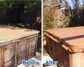 Replacement Hot Tub Cover Vinyl - Restore your Spa Cover fpr 1/2 the Price of a New Spa Cover!