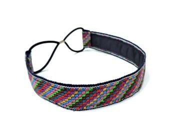 Tribal Headband, Stretchy Headband, Boys Headband, Hippiechic, Fabric Headband, Fabric Hair Accessory