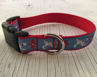 Dalmatians and Fire Hydrants Dog Collar