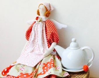 Tilda Angel of Home Cosiness and Bakery Doll Cloth doll Soft toy Rag doll Fabric doll Home decor Kitchen decor Mothers Gift for Girl-friend