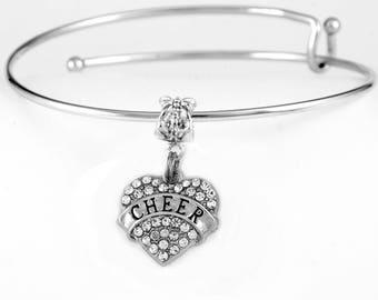 Cheer Bracelet  Cheer Jewelry  Cheerleader Jewelry  Cheer Charm Bracelet  best cheerleader gift