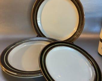 "One Vintage 60s Finland Arabia Karelia Pottery Salad Plate 8"""