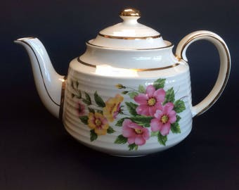 Another Classic Floral and Gold Sadler Vintage Teapot