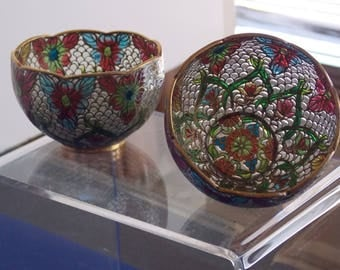 Vintage chinese plique a jour bowls free shipping
