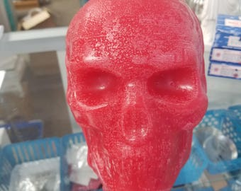 Extra Large Hand Poured Ritual Skull Candle