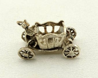 Cinderella Coach Vintage Solid Sterling Charm FREE SHIPPING!   #CCOACH-CM2