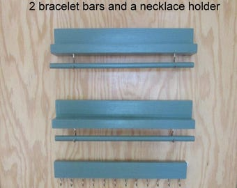 RESERVED FOR MICHELLE, 1 Necklace Holder,  2 Wall Bracelet Holders, Jewelry Hanger, Jewelry Storage, Jewelry Rack Holder, Necklace Holder,