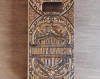 Harley Davidson iPhone Case, Note 8 Case, Real Wood Iphone X Case, Samsung Galaxy S7 Edge Cover, Galaxy S8 S9 Plus Case, Cell Phone Case