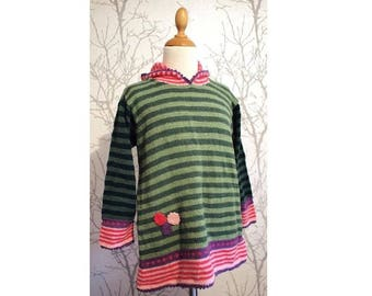 Knitted tunic new wool for children (not itchy). Size 5-6 years