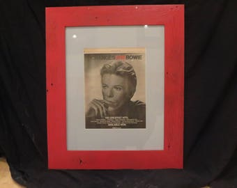 Framed David Bowie Ad Artwork from Rolling Stone Magazine