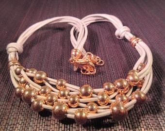 Chic Milor Bronze Leather Necklace