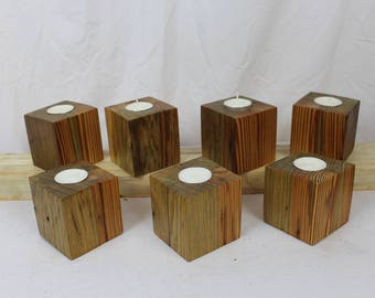 Reclaimed Old Growth 2x4 Votive Holders