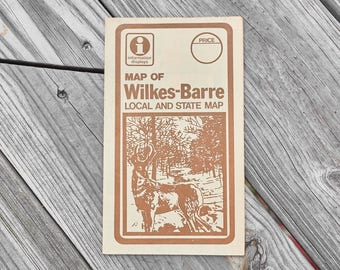 Vintage Wilkes-Barre map local and state