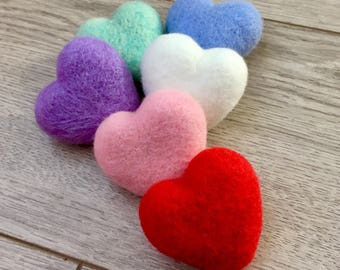 needle felted hearts newborn photography prop newborn stuffy valentines day prop felted