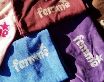 Crewneck T - Femme (handprinted)