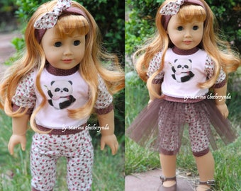 4pcs.in set for 18 inch dolls, fits like American Girl Dolls .