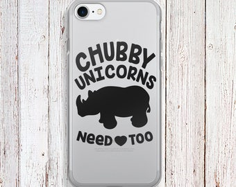 Clear Phone Case - Chubby Unicorns need love too Phone Case - Chubby Unicorns  case - iPhone Regular case