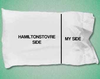 Hamiltonstovre pillow case - Hamiltonstovre gifts - Hamiltonstovre Side- My Side