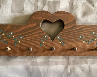 Vintage Heart Towel Hook   Wall Hanging   Kitchen Towel Hooks   Heart  Kitchen Decorative Hooks