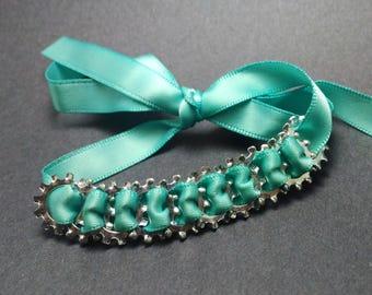 Ribbon and hardware bracelet