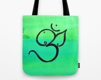 Ganesha Aum Om Tote bag market bag shopping bag reading tote beach bag hippy bohostyle festival canvas reusable tote hindu ganesh