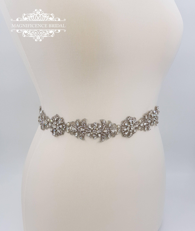 Vintage style Bridal belt, wedding belt, wedding dress belt, all ...