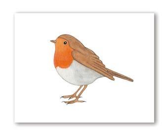 Printable Art, Robin Print, Watercolor Robin Painting, Watercolor Bird Art, Printable Nursery Wall Art, Printable Bird Art, Digital Download
