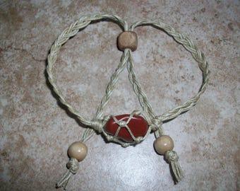 Red Jasper Hemp Bracelet