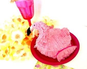 Flamingo Party -Mini Piñata - Flamingo Decorations - Luau Party- Luau Party Favors- Luau Decorations - Desk Decor - Party Favor