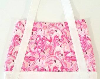 Flamingo Beach Bag/ Beach Tote/ Shopping Bag